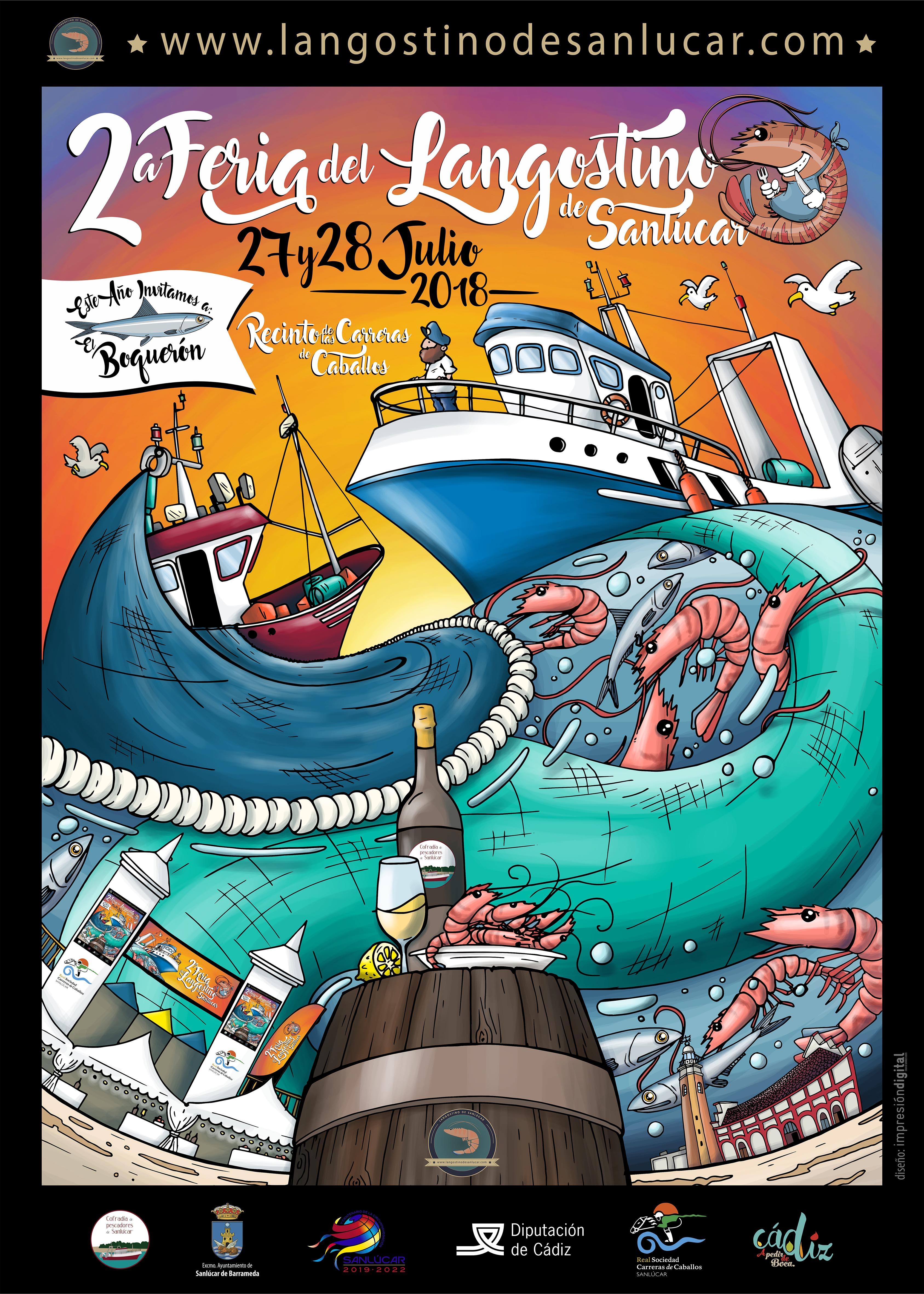 Cartel Feria de Langostino 2018